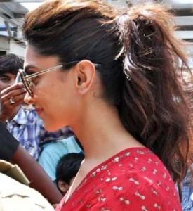 deepika padukone ponytail