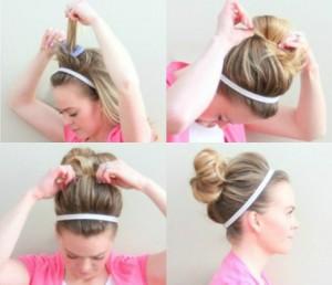 headband top knot
