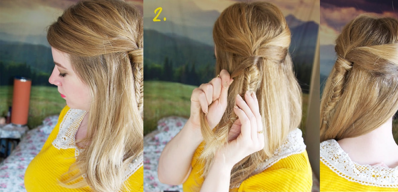 Tutorial: How to Make Half Up Side Fishtail Braid
